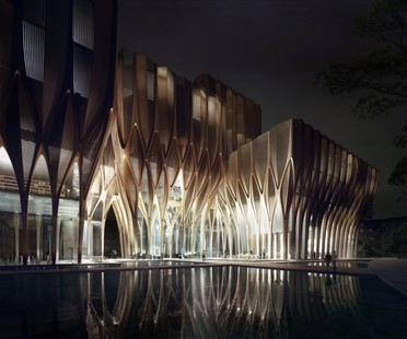 Zaha Hadid Architects Sleuk Rith Institute in Cambodia