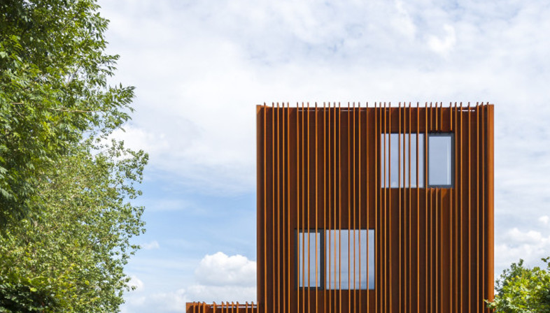 DMOA Architecten designed the Corten House in Antwerp, Belgium