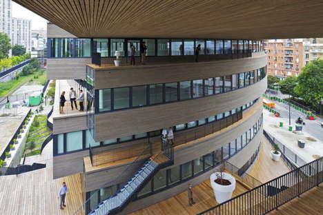 MVRDV Pushed Slab office building in Paris