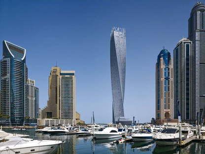 SOM, Cayan Tower, Dubai, UAE, ph.Tim Griffith