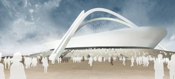 The new Milan stadium and stadiums in Floornature