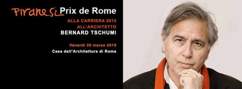 Bernard Tschumi wins the Piranesi Prix de Rome for lifetime achievement