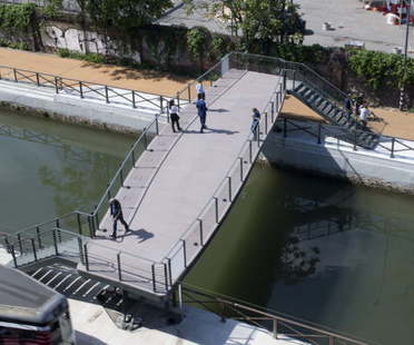 Milan Pedestrian bridge over the canals inaugurated, Lombardini 22