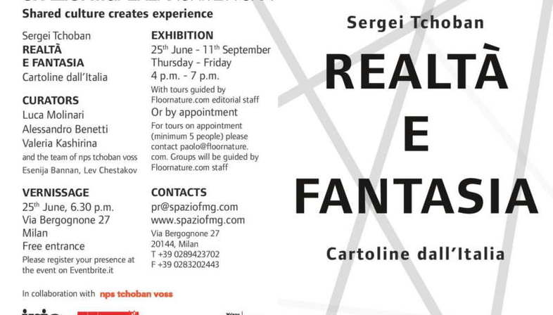 SpazioFMG exhibition Sergei Tchoban Realtà e Fantasia - Cartoline dall'Italia