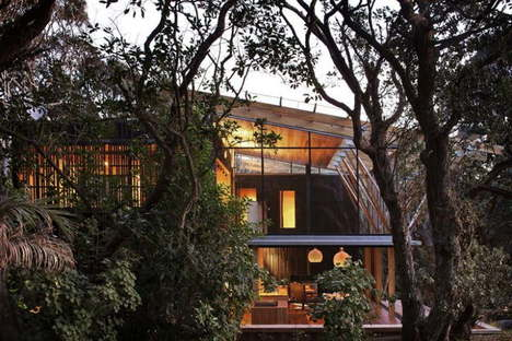 Herbst Architects under the Pohutukawa trees in New Zealand