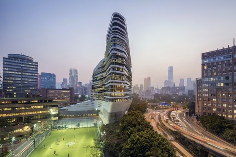 Jockey Club Innovation Tower Hong Kong photo by Doublespace