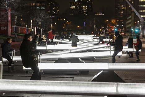 Luminotherapie Impulsion light and sound installation in Montreal