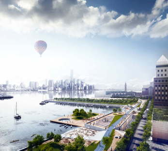 Ideas for rebuilding Hoboken, New Jersey after Hurricane Sandy - copyright OMA
