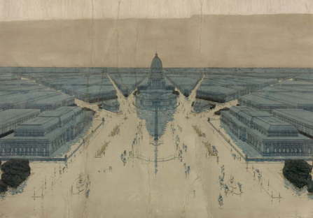 Jules Guerin's painting of Burnham & Bennett's Plan for post-fire Chicago,1909