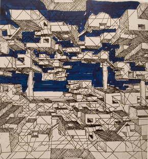 Yona Friedman Drawings of La Ville Spatiale, 1958; Courtesy YonaFriedman Archive