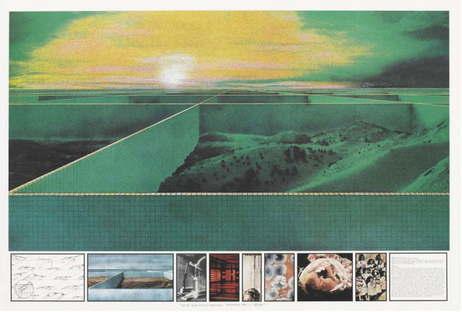 Superstudio - The Twelve Ideal Cities, First City: 2000-tons City, 1971