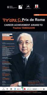 Yoshio Taniguchi wins the Piranesi Prix de Rome