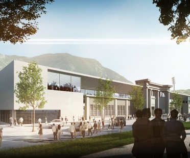 gmp expansion of Druso stadium in Bolzano