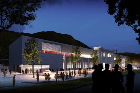 gmp expansion of Druso stadium in Bolzano