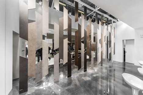 Ariostea Twister Pavilion Ultra surfaces for Cersaie 2016