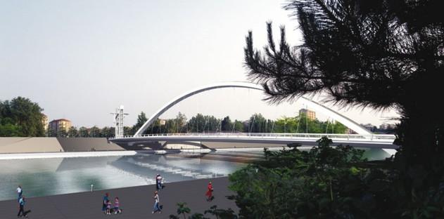 Richard Meier's Cittadella Bridge inaugurated in Alessandria