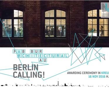 FAB Berlin hosts the Next Landmark 2016 awards ceremony