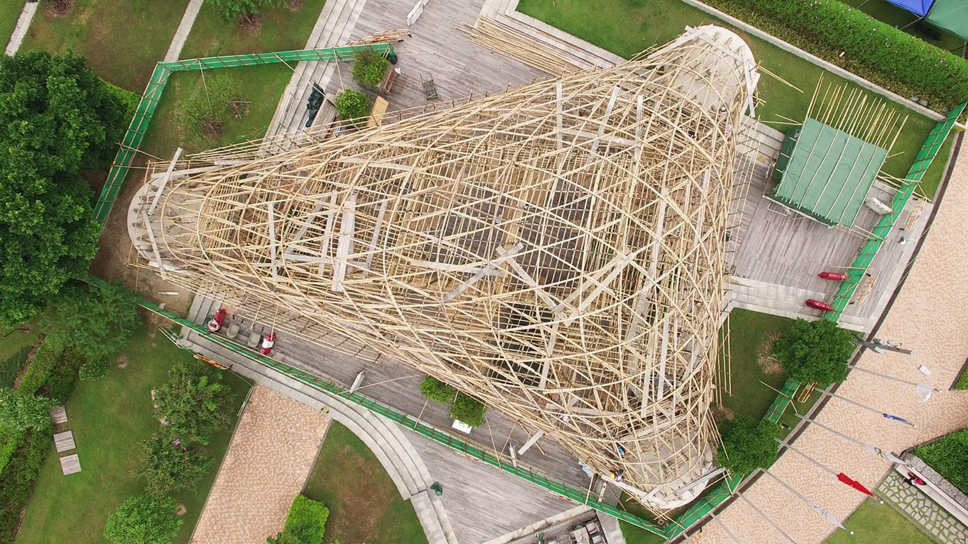 ZCB Bamboo Pavilion The Chinese University of Hong Kong School of Architecture