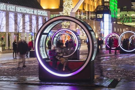 Luminothérapie Loop giant wheel and light effects in Montréal