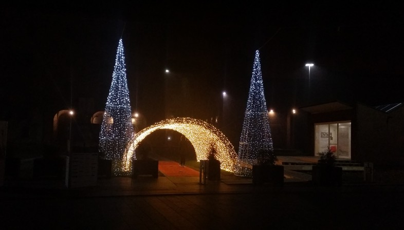 Architectures of light in the city in winter