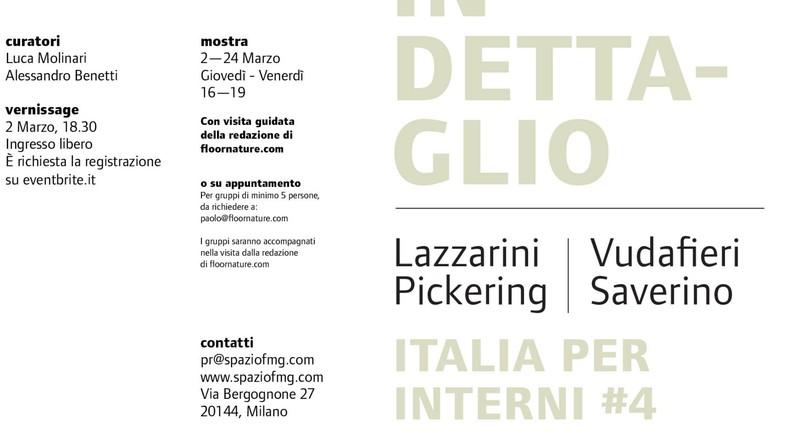 Italia per Interni #4 exhibition at SpazioFMG Lazzarini Pickering  Vudafieri Saverino