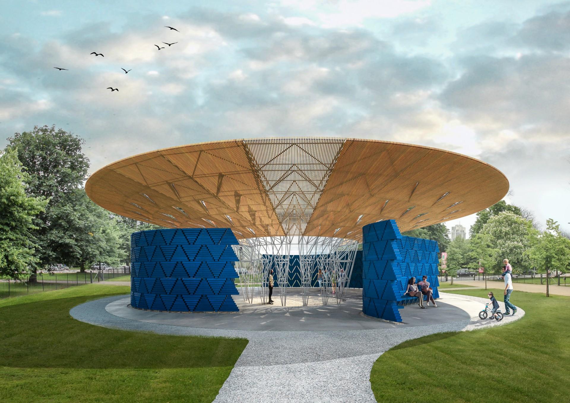 The architect of the 2017 Serpentine Pavilion is Diébédo Francis Kéré