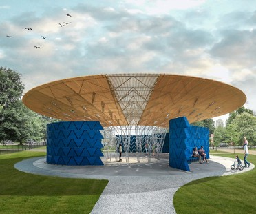 The architect of the 2017 Serpentine Pavilion is Diébédo Francis Kéré
