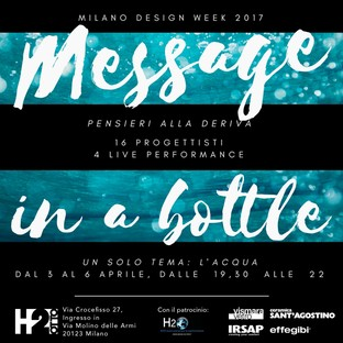 Message in a Bottle – Thoughts adrift H2O at Milano Design Week 2017