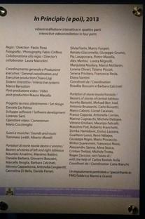 In Principio (e poi) - Studio Azzurro Room, Vatican Museum