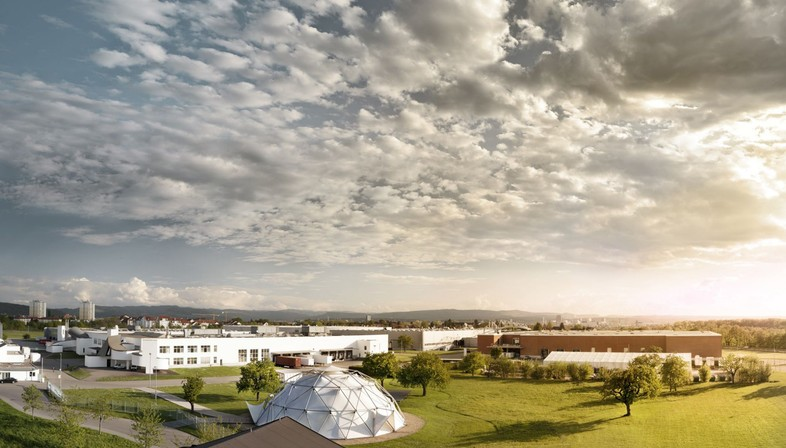 The buildings on the Vitra Campus in Weil am Rhein