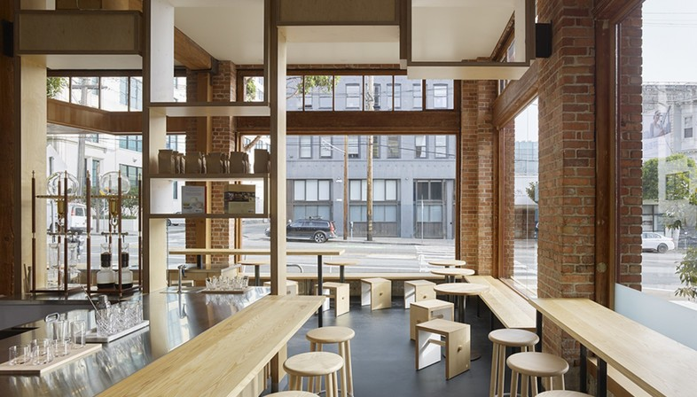 Bohlin Cywinski Jackson Bay Area cafe interior design Floornature