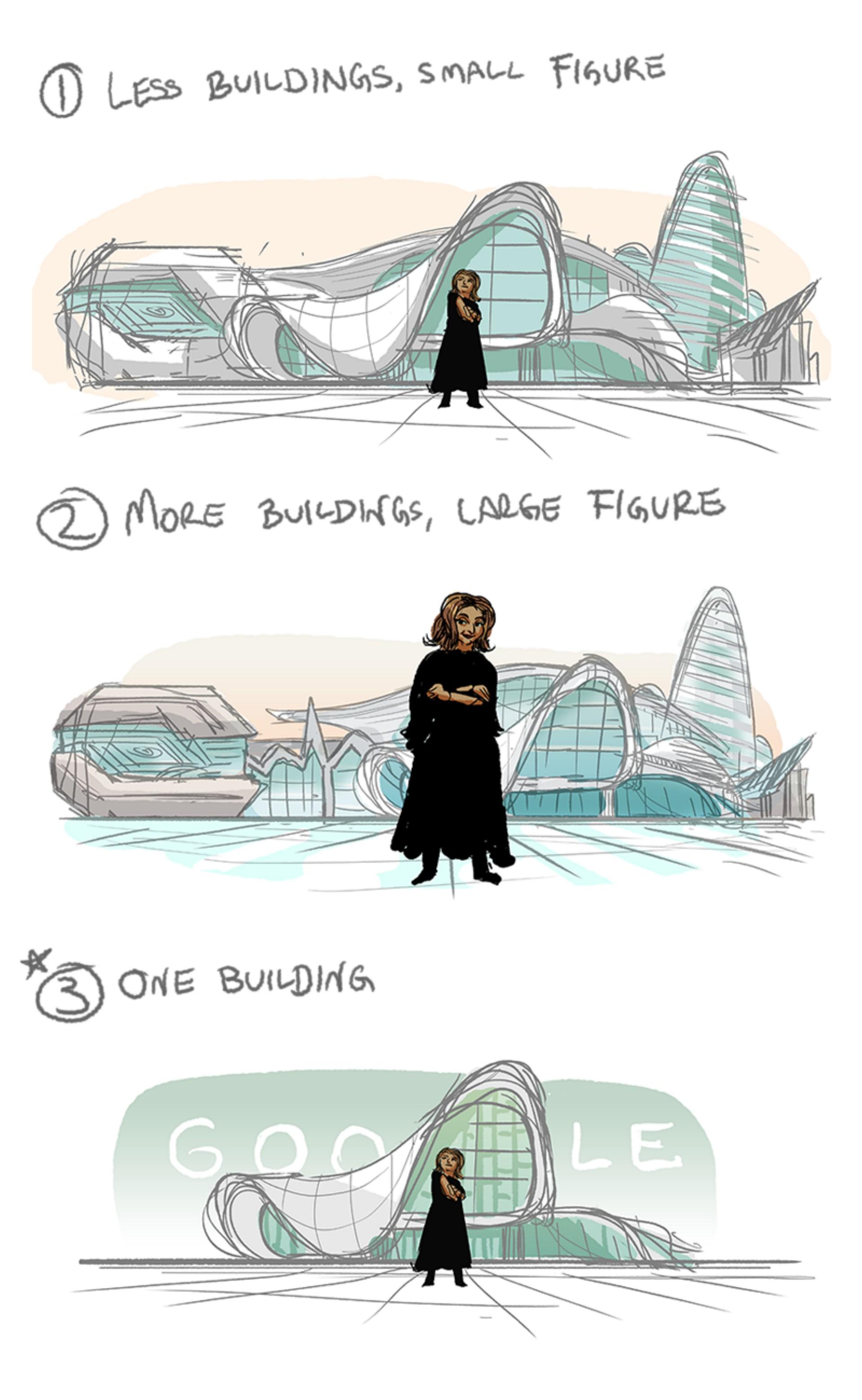 zaha hadid doodle google dedicated floornature