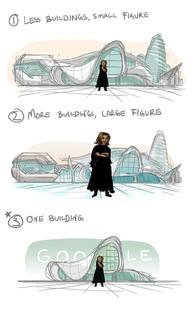 Zaha Hadid: doodle google dedicated