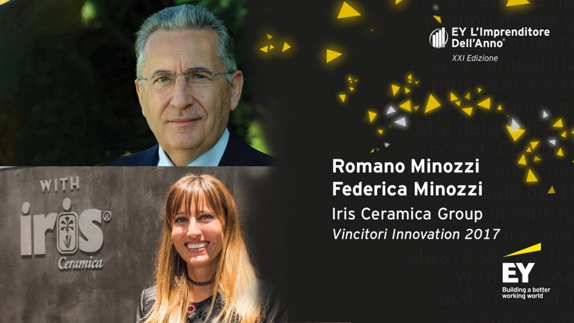 The Iris Ceramica Group at the EY Entrepreneur of the Year awards