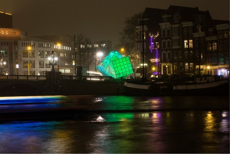 Architecture and light in London and Amsterdam nights