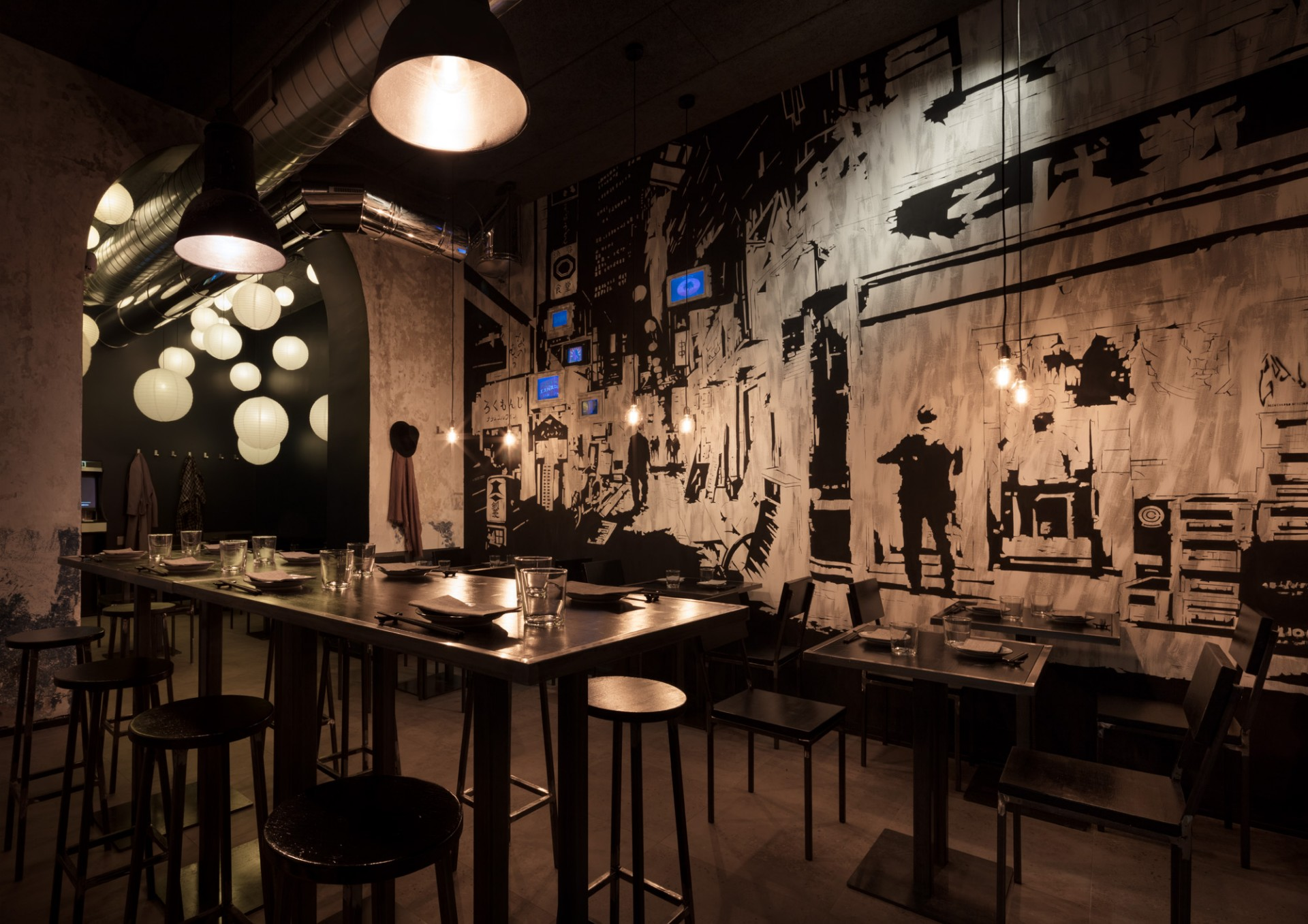 Japanese atmospheres of interior design and art in milan for Ristoranti design