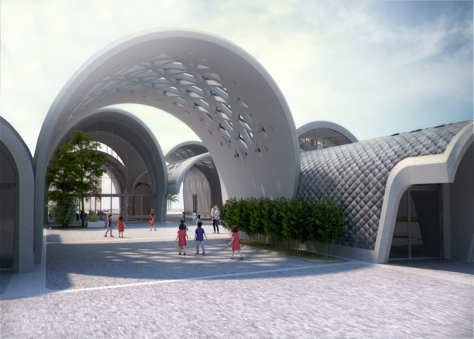 Zaha Hadid Architects Lushan Primary School, from China to Milan