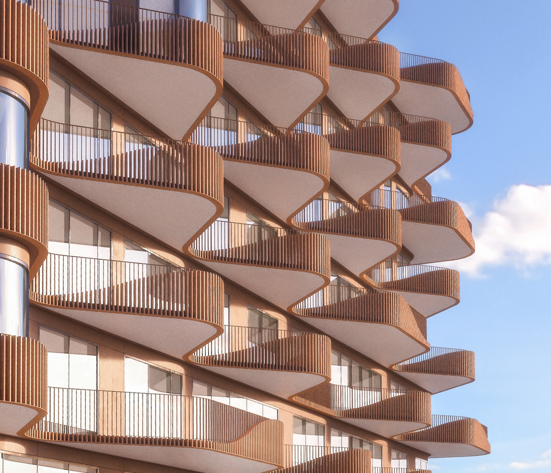 Aquabella and Aqualuna are two residential projects by 3XN Architects in Toronto