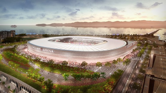 New Cagliari Calcio stadium signed by Massimo Roj, by Progetto CMR and Sportium