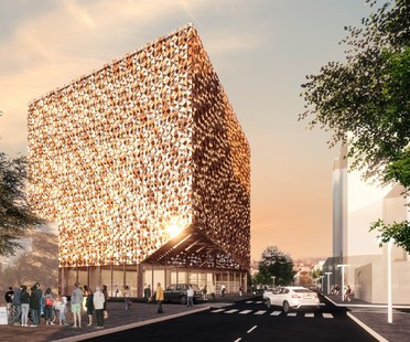 Stefano Boeri Architetti's first project in Tirana, the Blloku Cube