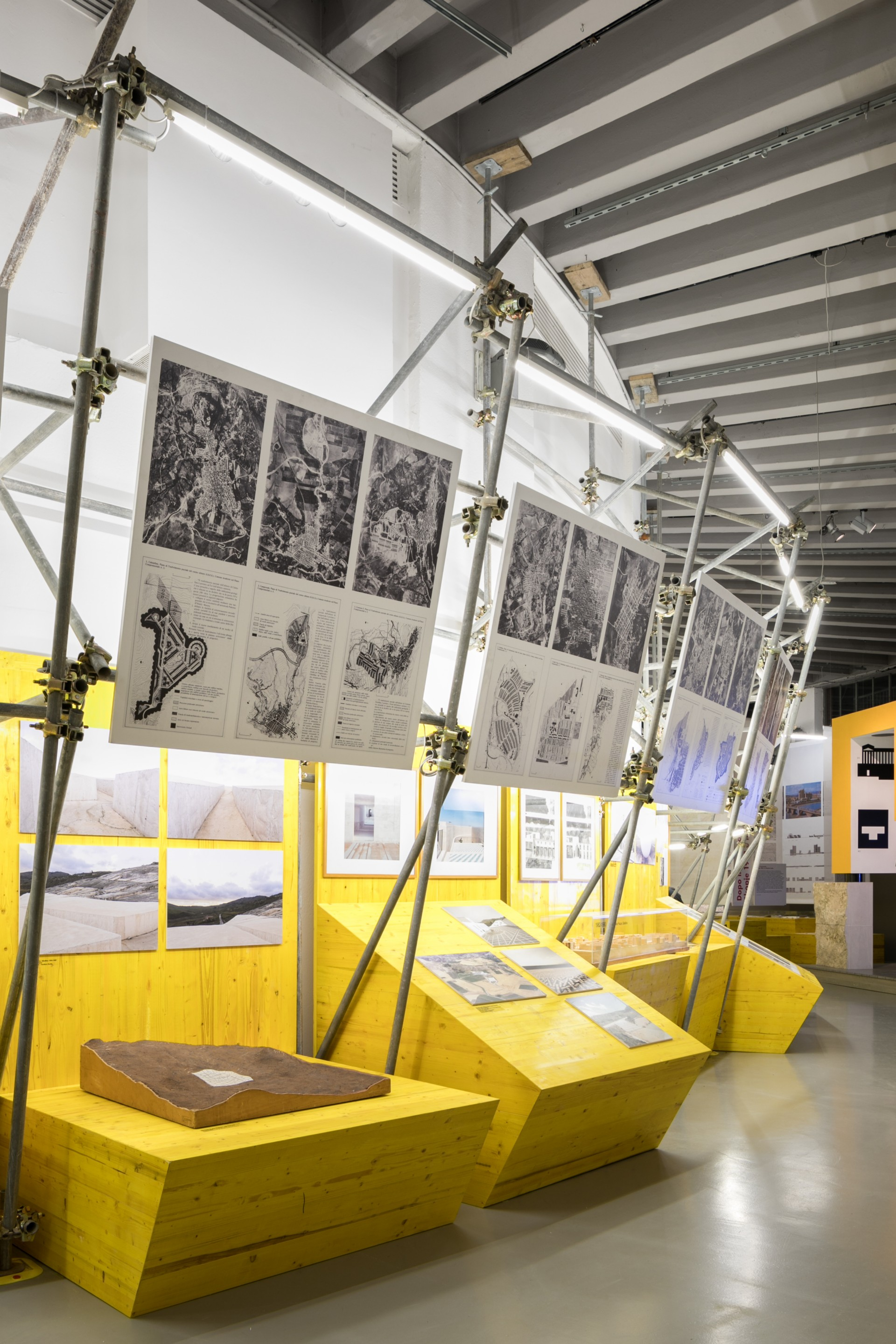 Studio Architettura Paesaggio Milano exhibitions about reconstruction and the built environment