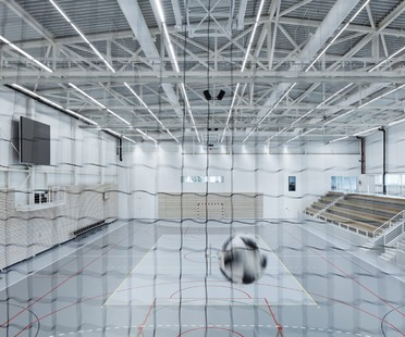 Cuboid Architekti City Sports Hall in Kuřim, Czech Republic