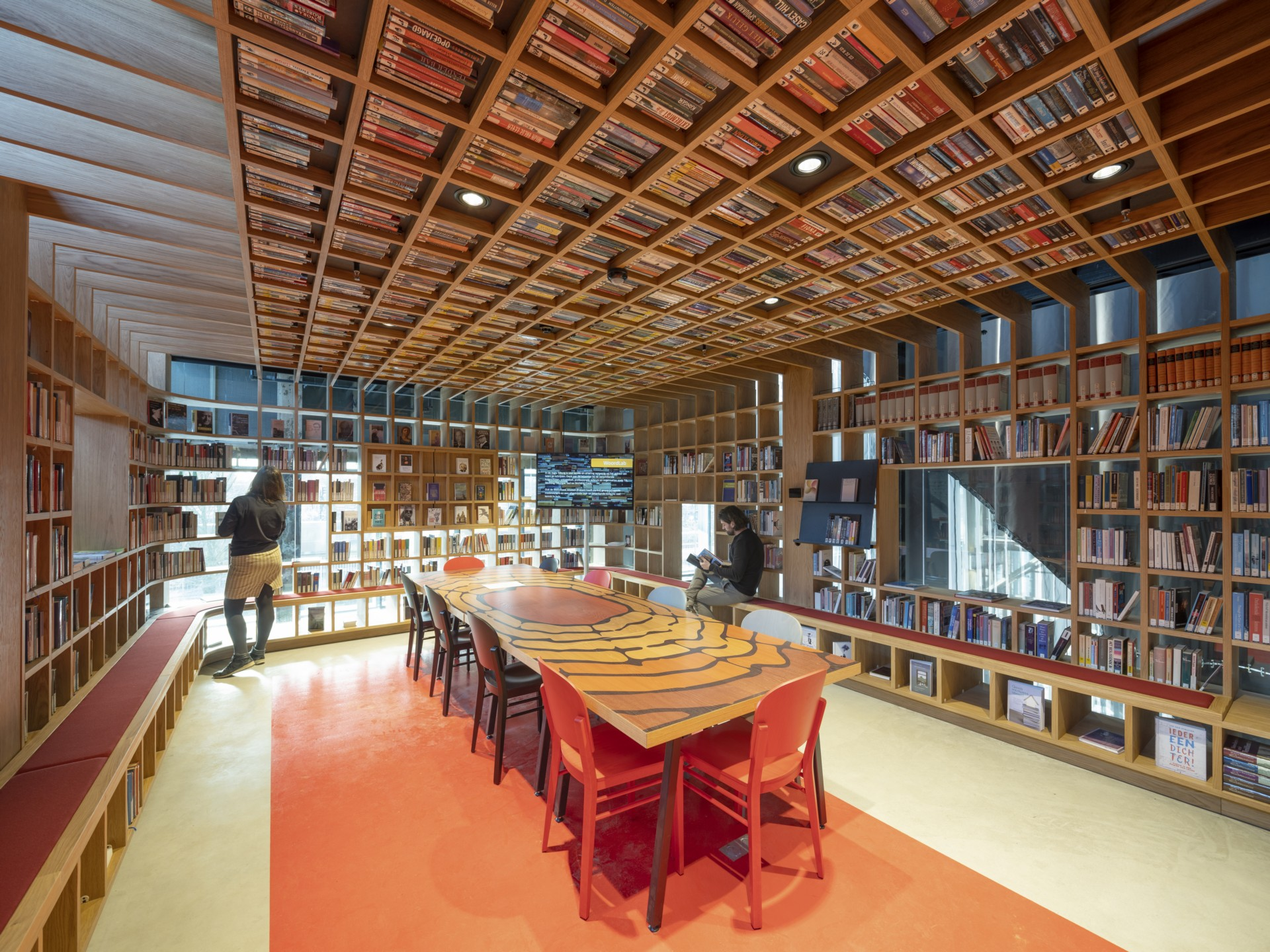 Mecanoo Interior Design Of Lochal Library In Tilburg
