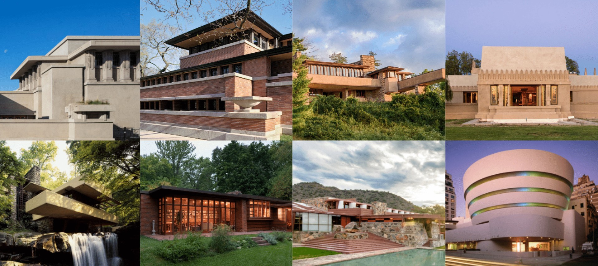 Eight buildings by Frank Lloyd Wright inscribed on the ...