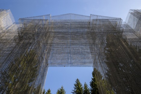 Edoardo Tresoldi creates Simbiosi site-specific work for the Arte Sella project in the Trentino Dolomites