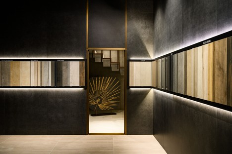 FAB Fiandre Architectural Bureau in Castellarano has a new installation by Iosa Ghini Associati