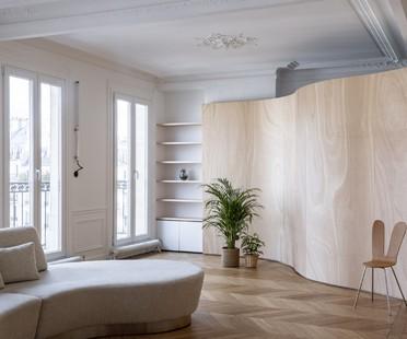 Toledano + architects Wood Ribbon interior design in Paris