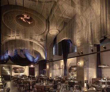 Tresoldi sculpture for Cathédrale - Moxy East Village Hotel by the Rockwell Group