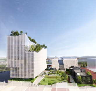 Piuarch's Human Technopole Campus research building on the former Expo site in Milan