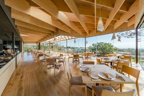 Kengo Kuma & Associate design the Mikuni Izu Kogen panoramic restaurant in Shizuoka